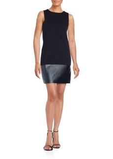 Saks Fifth Avenue RED Solid Sleeveless Sheath Dress