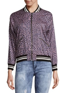 Saks Fifth Avenue Leopard Bomber