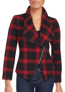 Saks Fifth Avenue RED Lilymay Plaid Jacket