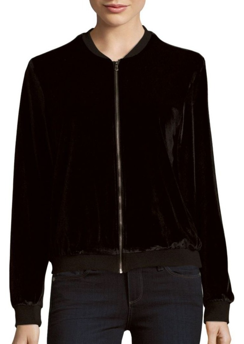 Saks Fifth Avenue RED Long-Sleeve Bomber Jacket
