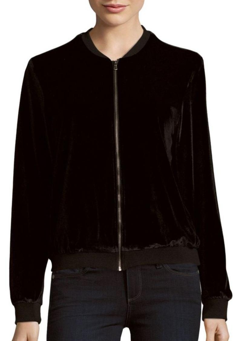 Saks Fifth Avenue RED Long-Sleeve Bomber Jacket