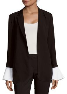 Saks Fifth Avenue RED Open-Front Poet-Sleeve Jacket