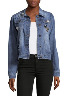 Saks Fifth Avenue RED Patched Denim Jacket