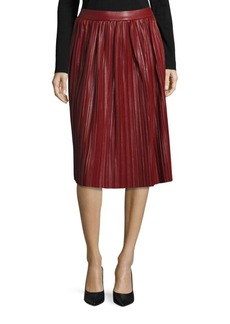 Saks Fifth Avenue RED Pleated A-Line Skirt