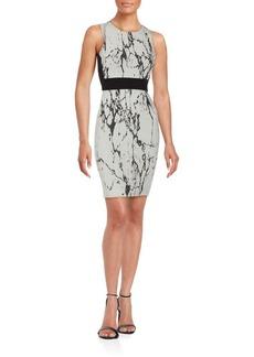 Saks Fifth Avenue RED Printed Sleeveless Sheath Dress