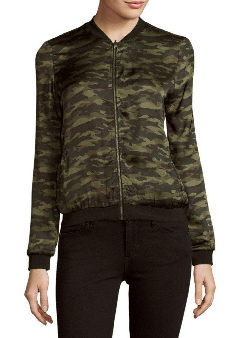 Saks Fifth Avenue RED Reversible Camouflage Bomber Jacket