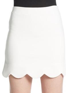 Saks Fifth Avenue RED Scalloped Mini Skirt