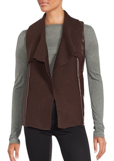 Saks Fifth Avenue RED Sleeveless Corduroy Vest