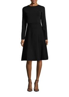 Saks Fifth Avenue RED Solid Fit & Flare Sweater Dress