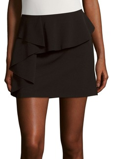 Saks Fifth Avenue RED Solid Ruffled Skirt
