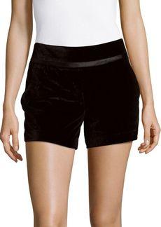 Saks Fifth Avenue RED Solid Velvet Shorts