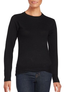 Saks Fifth Avenue RED Solid Wool-Blend Sweater