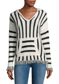 Saks Fifth Avenue Stripe Knit Hoodie