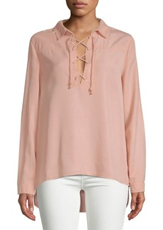 Saks Fifth Avenue Taylor Lace-Up Blouse