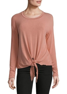 Saks Fifth Avenue Tie-Front Long-Sleeve Top