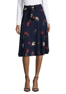 Saks Fifth Avenue RED Tie Waist Floral Skirt
