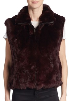 Saks Fifth Avenue Rex Rabbit Fur Vest