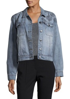 Saks Fifth Avenue Rosetta Embroidered Denim Jacket