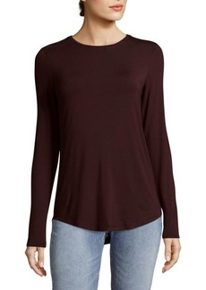 Saks Fifth Avenue Round Hem Crew Top