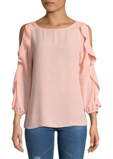 Saks Fifth Avenue Ruffled Cold Shoulder Blouse
