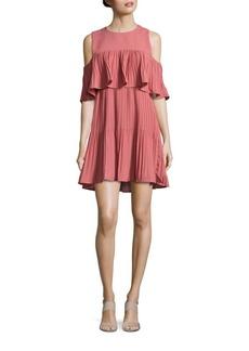 Saks Fifth Avenue Ruffled Cold-Shoulder Dress