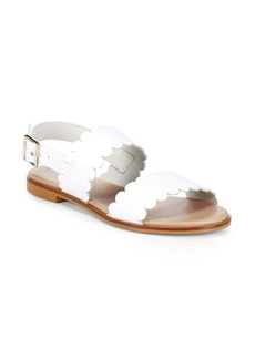 Scalloped Leather Sandals