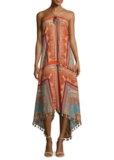 Saks Fifth Avenue Scarf Print Halterneck Dress