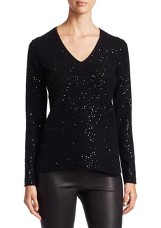 Saks Fifth Avenue COLLECTION Featherweight Cashmere Sequin Sweater