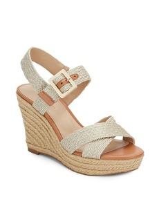Saks Fifth Avenue Shaine Metallic Braided Wedge Sandals