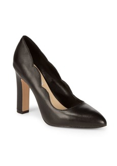 Saks Fifth Avenue Shandy Leather Block Heels