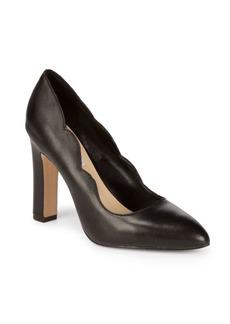 Saks Fifth Avenue Shandy Leather Block Heels