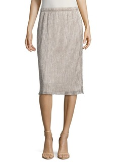 Saks Fifth Avenue Shimmer Midi Skirt