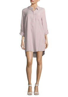 Saks Fifth Avenue Shoshana Striped Hi-Lo Shirtdress
