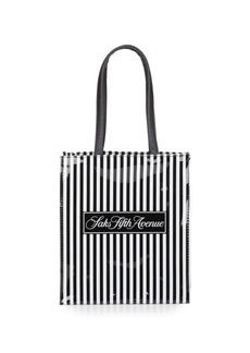 Saks Fifth Avenue Signature Striped Mini Lunch Tote