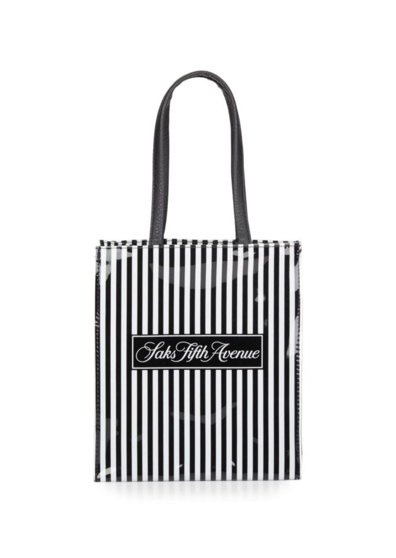 9dc4a896b35d Saks Fifth Avenue Saks Fifth Avenue Signature Striped Mini Lunch ...