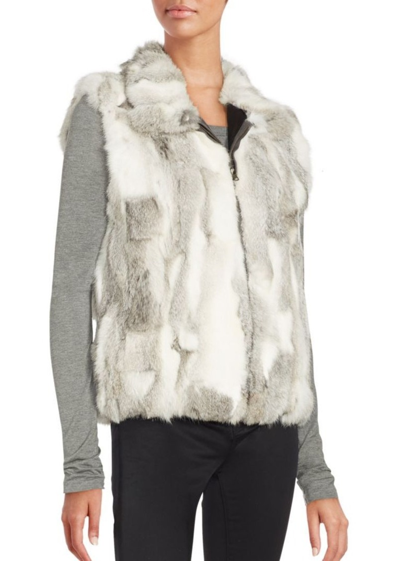 Saks Fifth Avenue Sleeveless Rabbit Fur Vest