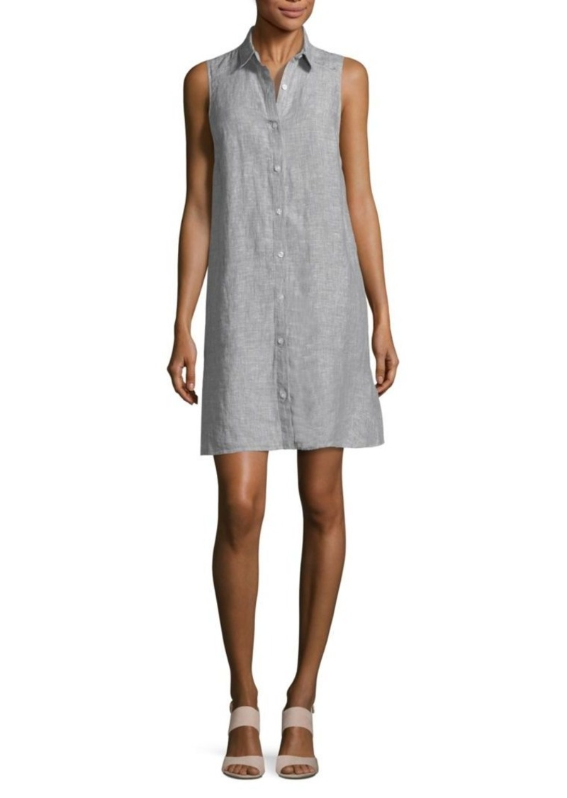 Saks Fifth Avenue Sleeveless Linen Shirt Dress Dresses