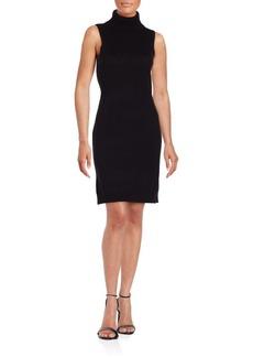 Saks Fifth Avenue Sleeveless Turtleneck Sheath Dress