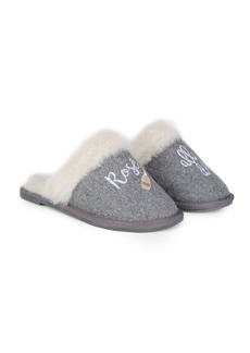 Saks Fifth Avenue Slip-On Faux Fur-Lined Slippers
