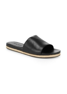 Saks Fifth Avenue Slip-On Leather Slides