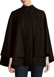 Saks Fifth Avenue BLACK Solid Cape Sleeve Poncho