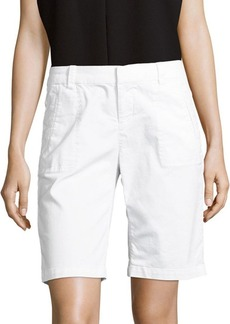 Saks Fifth Avenue BLUE Solid Cotton-Blend Shorts