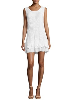 Saks Fifth Avenue Solid Crochet Layered Dress