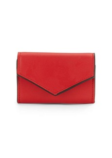 Saks Fifth Avenue Solid Leather Mini Envelop Wallet