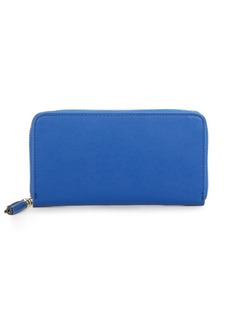 Saks Fifth Avenue Solid Leather Wallet & Gift Box