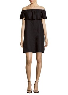 Saks Fifth Avenue Solid Linen Dress