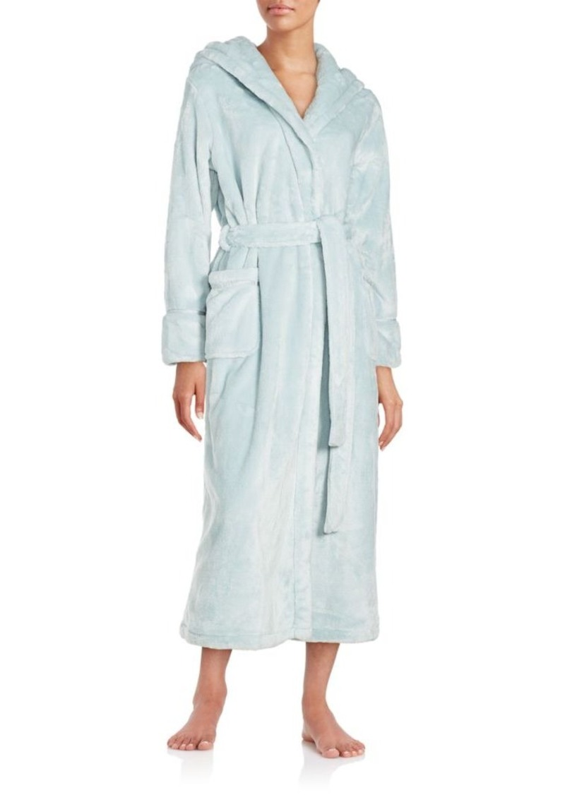 Saks Fifth Avenue Solid Long Sleeve Bath Robe
