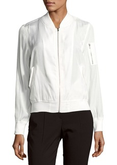 Saks Fifth Avenue Solid Long-Sleeve Bomber Jacket