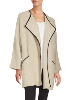 Saks Fifth Avenue Solid Open Front Jacket
