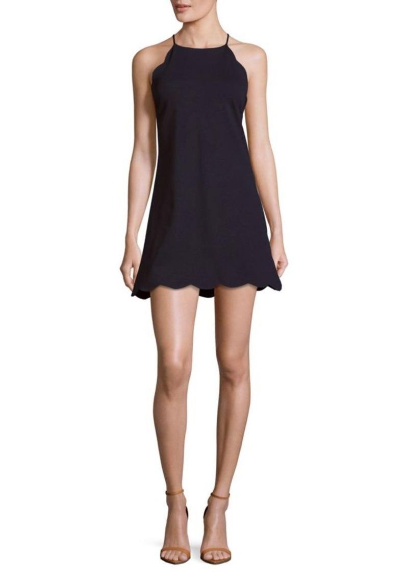 Saks Fifth Avenue Solid Scalloped Hem Dress